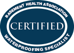 Everdry Basement Waterproofing Atlanta | Basement Health Association Certified Waterproofing Specialist Award